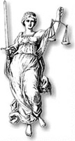 The Statue of Justice symbol graphic