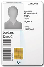 Image of ID card - link to current ID card system status